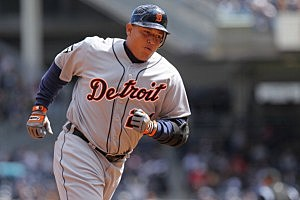 Cabrera in his home run trot