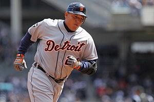 Cabrera in his home run trot