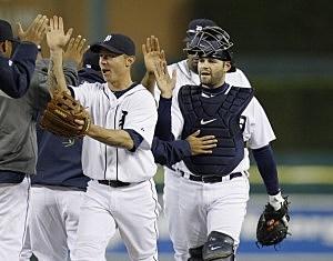 Tigers celebrate win!