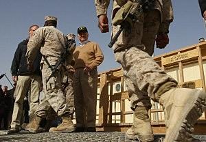 Defense Secretary Robert Gates Visits Troops in Afghanistan