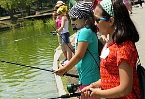 Schoolkids Go Fishing