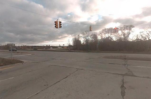 Exit Ramp Off Eastbound I-69 at Belsay