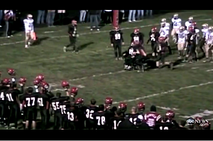 High School Senion with MS Scores Touchdown