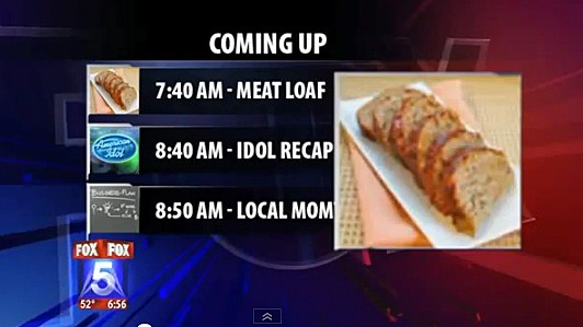 TV station confuses singer Meat Loaf with the food meatloaf