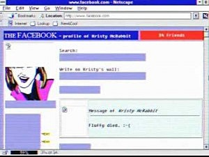 Video demonstrates what Facebook would have looked like in the 90s