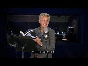 Ellen Records an audio book for '50 Shades of Gray' and it didn't work out so well