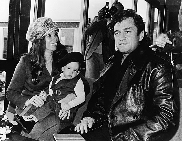 Johnny Cash With Wife June And Son John