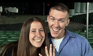 Bay City Marine Sergeant proposes at DTE Energy Music Theatre