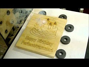 CAD program used to etch Happy Birthday Perfect Grammar