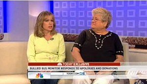Karen Klein and her daughter Michelle appear on NBC's Today
