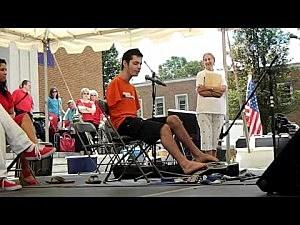 Armless teen George Dennehy plays guitar with his feet
