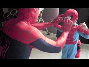 Dad Dresses Up Like Spiderman to Surprise Son