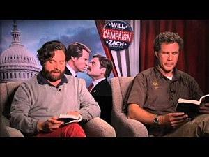 'The Campaign' stars Will Ferrell & Zach Galifianakis read '50 Shades of Grey'