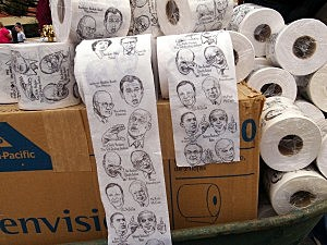 Brothers Jordan and Bryan Silverman hope to sell advertising on toilet paper
