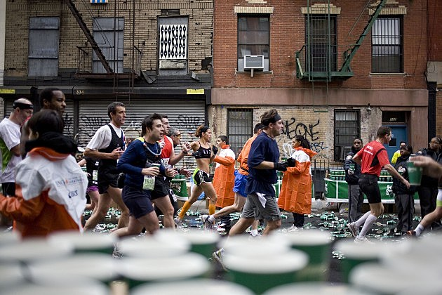 New Yorkers Gather To Watch The New York City Marathon