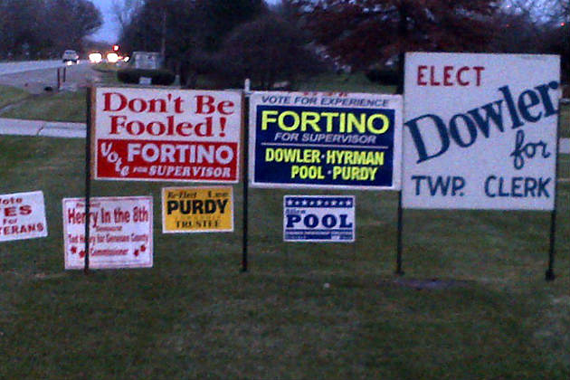 Please remove all political signs after the polls close.