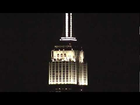 Empire State Building lights display