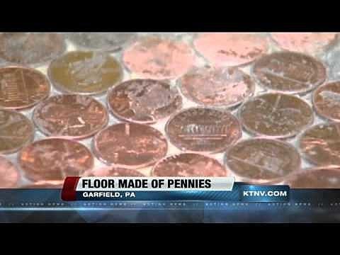 floor made of pennies