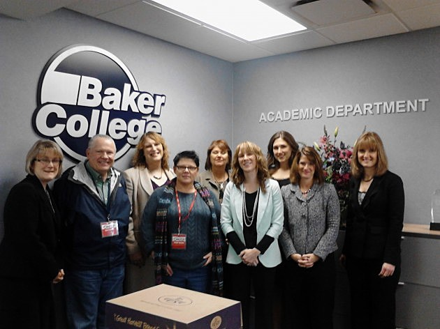 holiday gift drop at Baker College