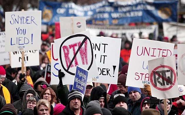 Michigan lost 42,000 union members in 2012