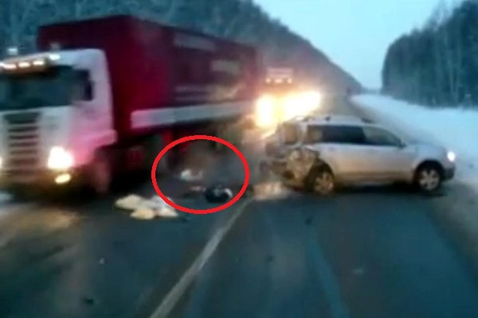 Horrifying Video! Baby Miraculously Survives Car Crash [VIDEO]