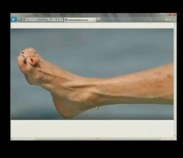 Steven Tyler's gross feet