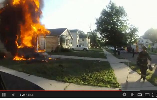 Michigan firefighter's helmet cam