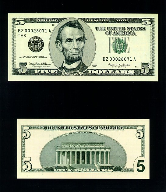 Heads Up Counterfeit Five Dollar Bills Circulating In