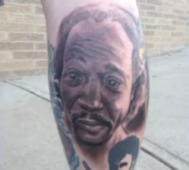 Charles Ramsey Face Tattoo