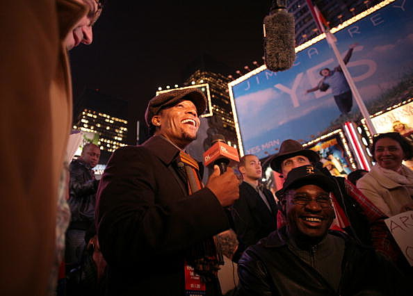 People Gather To Watch Election Results In Times Square