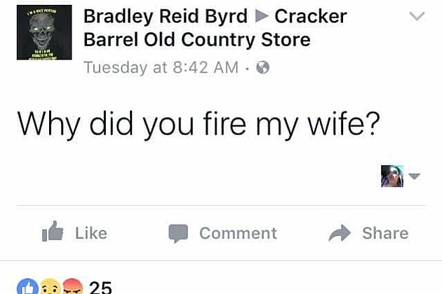 Cracker barrel fired brad s wife the internet fallout is for How did cracker barrel get its name