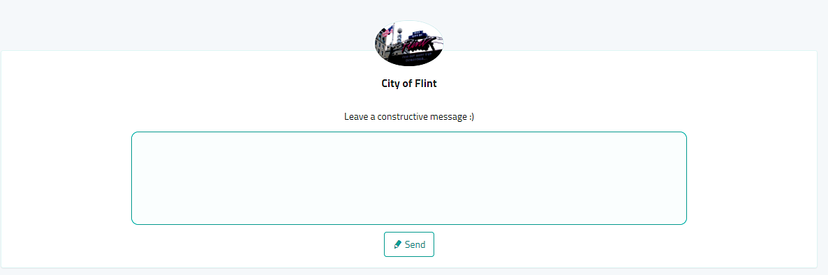 CLICK HERE TO SUBMIT AN ANONYMOUS MESSAGE TO THE CITY OF FLINT